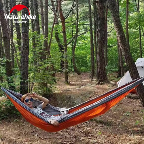 Double Colors Outdoor Camping Hammock For 2 Persons