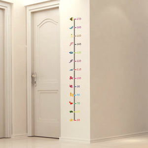 Height Measurement Wall Stick with Under the Sea Animal + Heart Theme