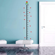 Load image into Gallery viewer, Height Measurement Wall Stick with Under the Sea Animal + Heart Theme