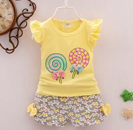 Baby Girl T-Shirt + Shorts in Candy Design