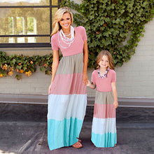 Load image into Gallery viewer, Matching Mother-Daughter Striped Dresses in Choice Colors