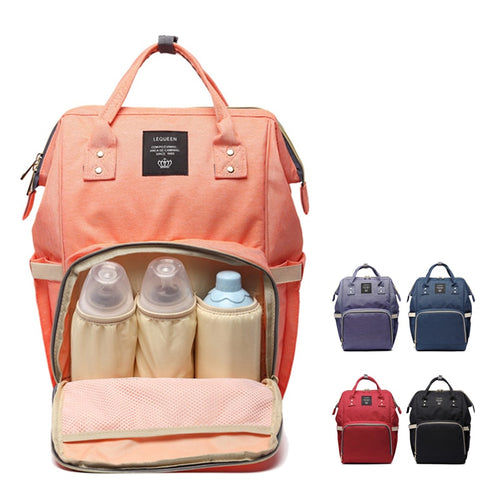 Large Diaper Bag in Backpack Style + Choice Color