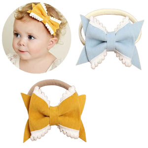 Cute Baby Girl Soft Elastic Velvet Headband