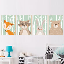 Load image into Gallery viewer, Baby Canvas Painting Wall Art with Forest Cute Animals