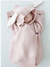 Load image into Gallery viewer, Baby Swaddling Blankets with Rabbit Ears