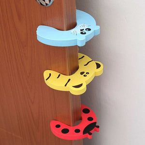 10pcs Child Baby Safety Door Stop Locks with Animal Design