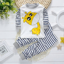 Load image into Gallery viewer, Baby Boy + Girl Cotton Pants + Long-Sleeve Shirt Collection with Animal Designs