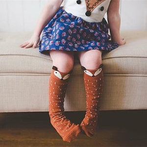Cotton Baby Leg Warmers with Animal Design