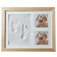 Load image into Gallery viewer, Baby Hand & Foot Print Mold Maker with Solid Wooden Frame