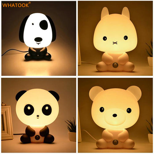 LED 3D Baby Night Lights with Cartoon Animal Design