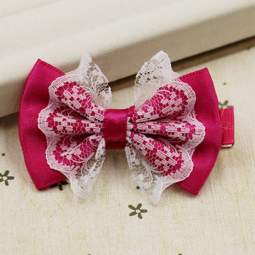 Baby Girl Lace Hair Clip in Bow Design