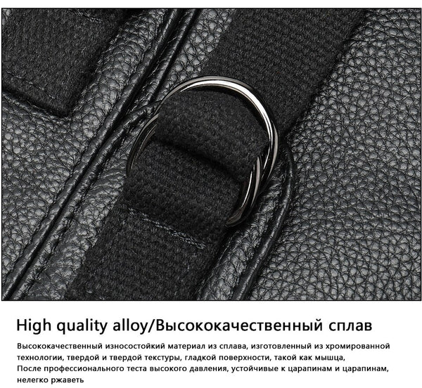 Luxury leather bag in black color