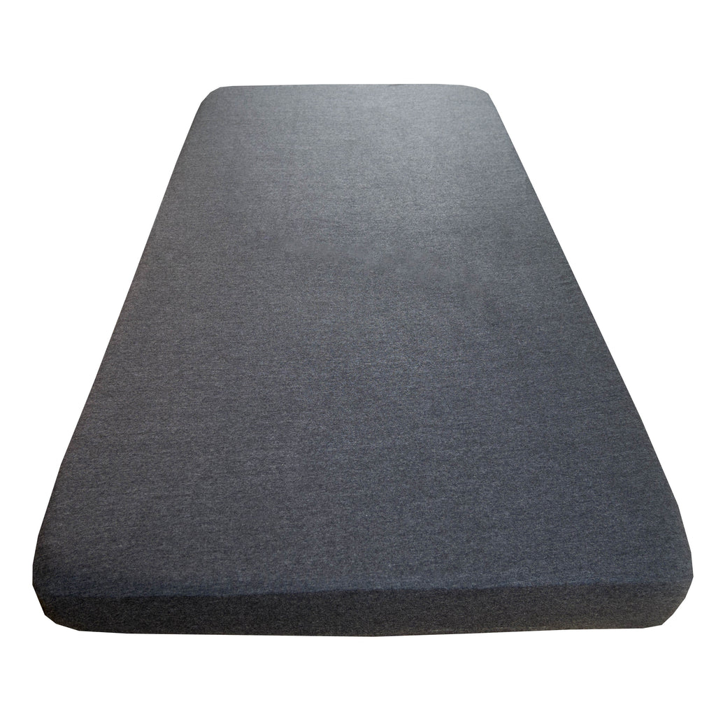 Cot sheet in Charcoal marl