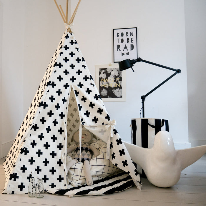 Cross Teepee White Trim