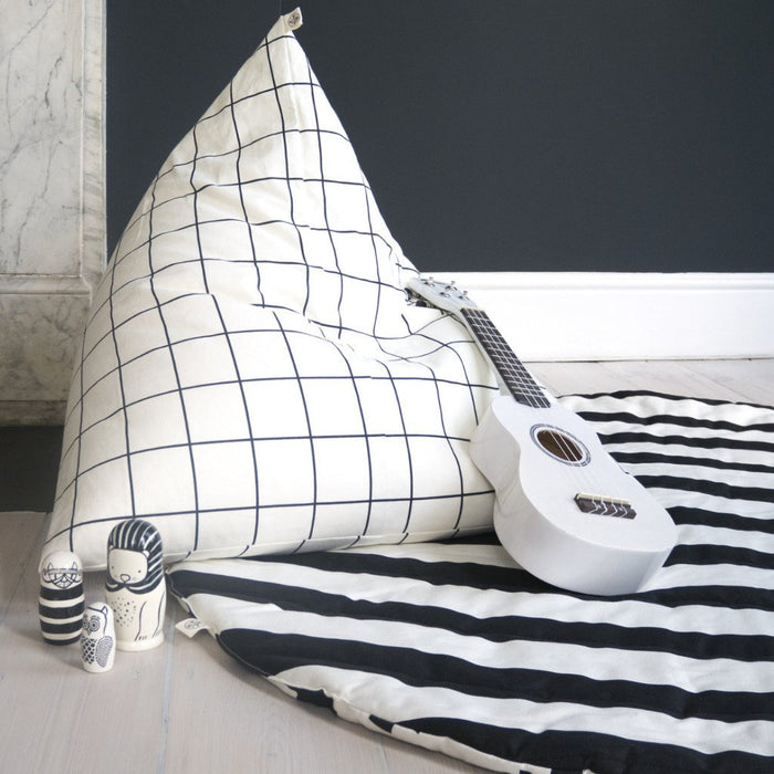 Grid Pyramid Bean Bag