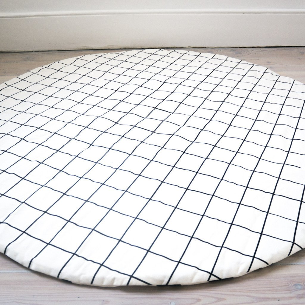 Grid/Cross Print Play Mat