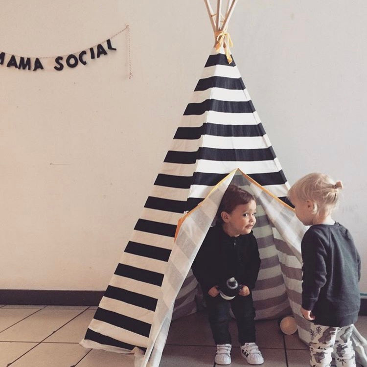 Stripe Teepee Black Trim