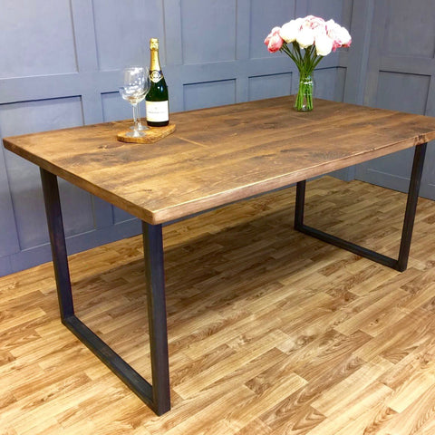 Industrial Style Table Square Frame 100cm - 240cm
