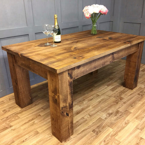 Industrial Style Dining Table Block Heavy