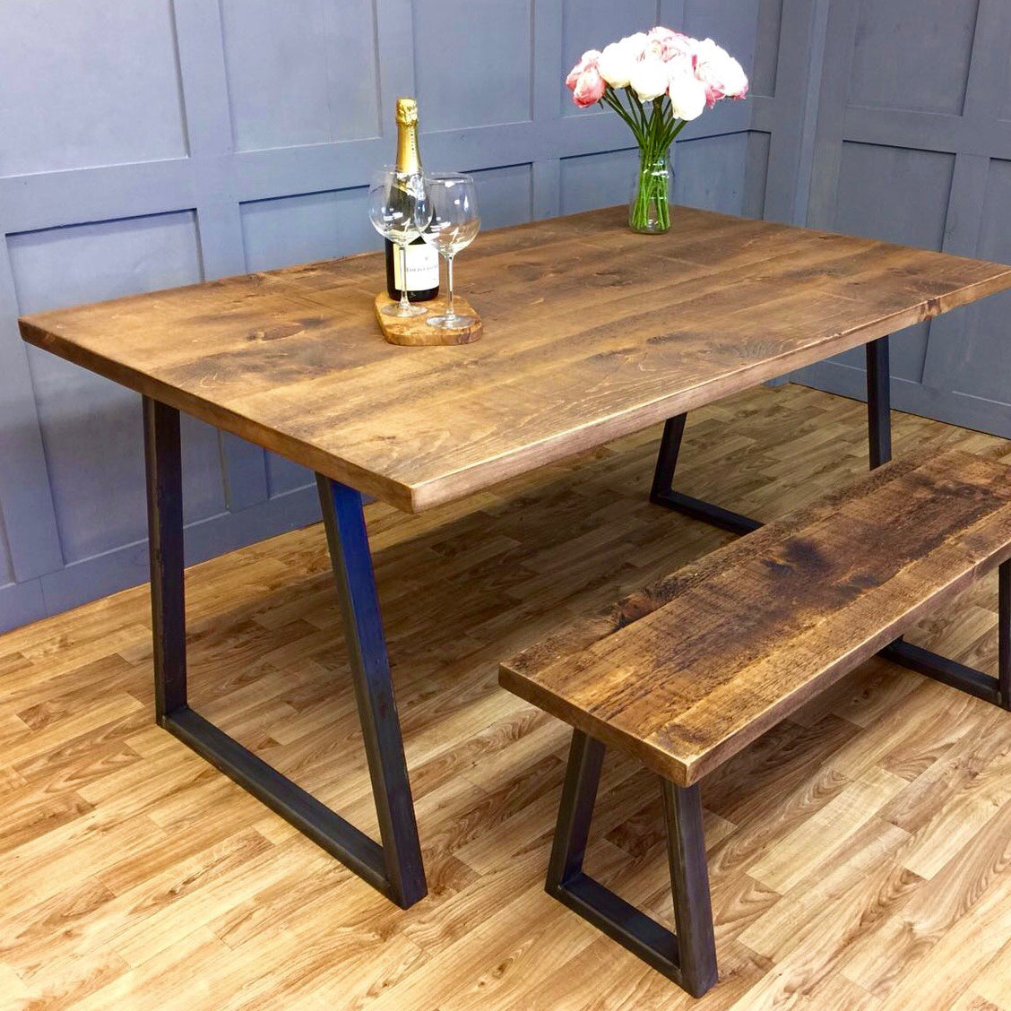 Industrial Style Table 'A' Frame 100cm - 240cm