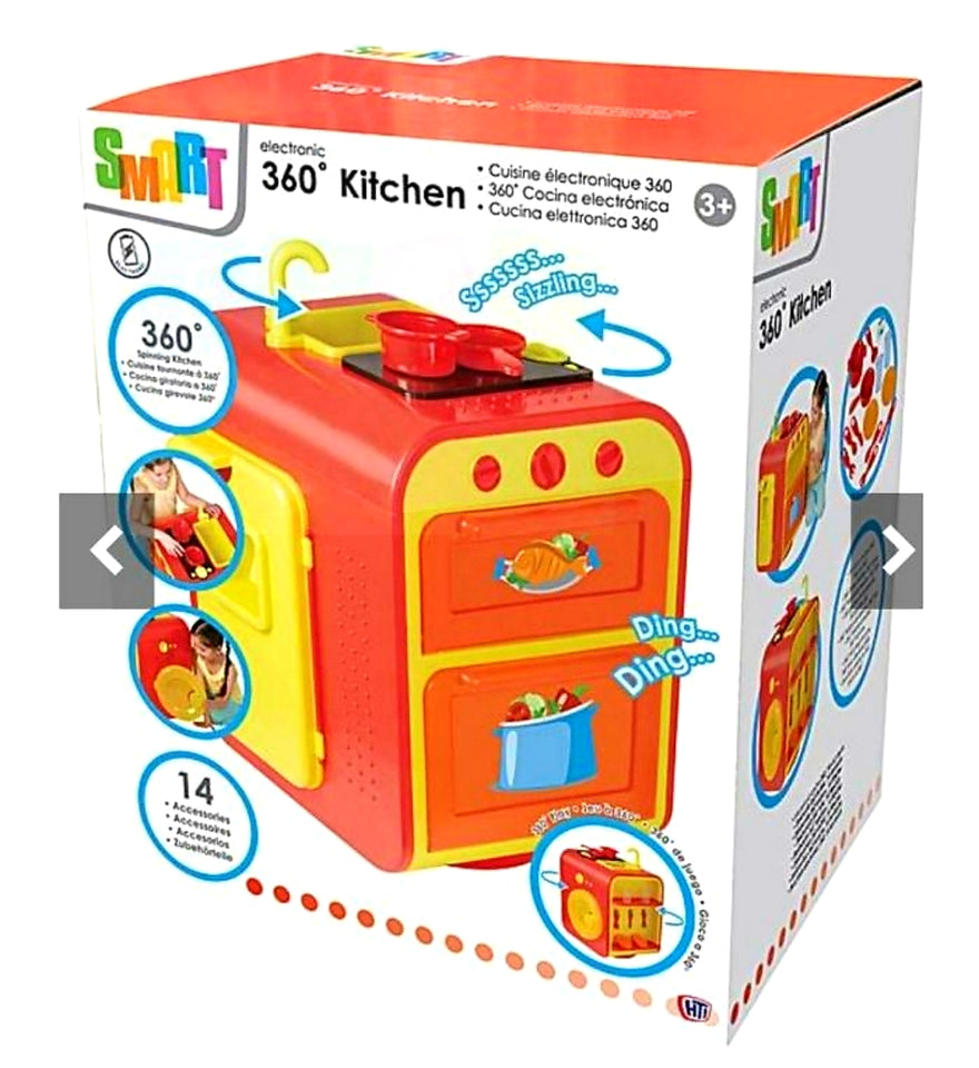 Smart 360 Kitchen Bright Kids Children Pretend Play Cooking Toy Set
