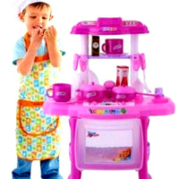 🎁SAVE $$$ ✔👌Kids Children Pretend Play Kitchen Cooking  Toy Set with utensils accessories light & sound
