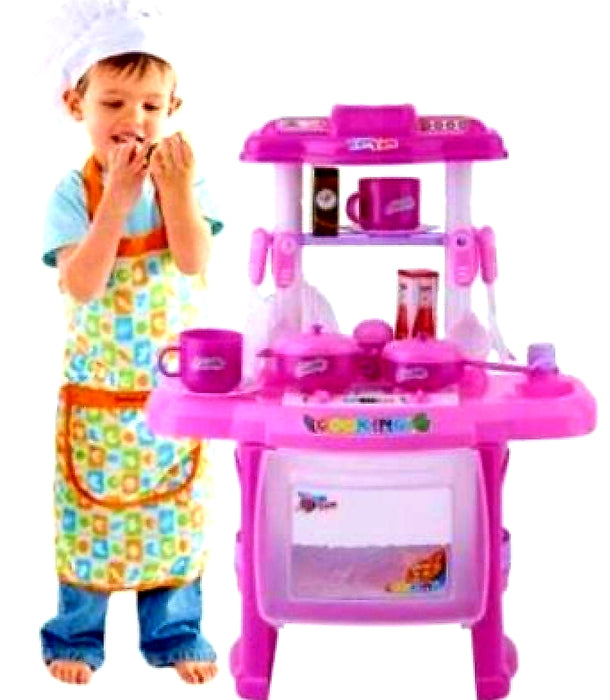 🎁SAVE $$$ ✔👌Kids Children Pretend Play Kitchen Cooking  Toy Set with utensils accessories light & sound - Elea Toys