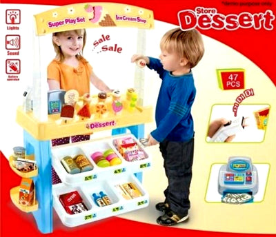 🎁Perfect Gift🎁 Pretend Play  Kids Children Dessert Store Shop Super FULL Play Set - Shopping