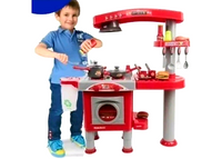 High Quality Luxury Large Toy Kitchen Red Unisex