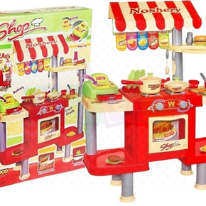 2In1 Fast Food Shop & Large Kitchen - Pretend Play Role Playing
