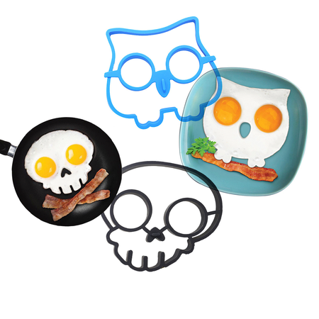 Fried Egg Moulds Skull and Owl - Elea Toys