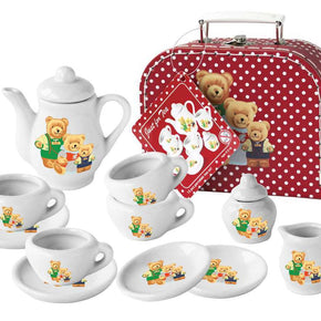 13PCS BEAR PORCELAIN TEA SET