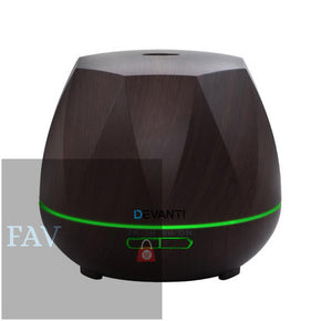 Devanti Ultrasonic Aroma Aromatherapy Diffuser Oil Electric LED Air Humidifier 400ml Dark Wood