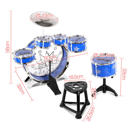 Keezi 11 Piece Kids Drum Set - Elea Toys