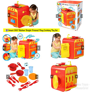 📣CLEARANCE OFFER📢ALL IN ONE TOY KITCHEN SET 🎈Unique Gift🎁 Exclusive at Elea🎁Smart 360 Kitchen Bright Kids Children Pretend Play Cooking Toy Set