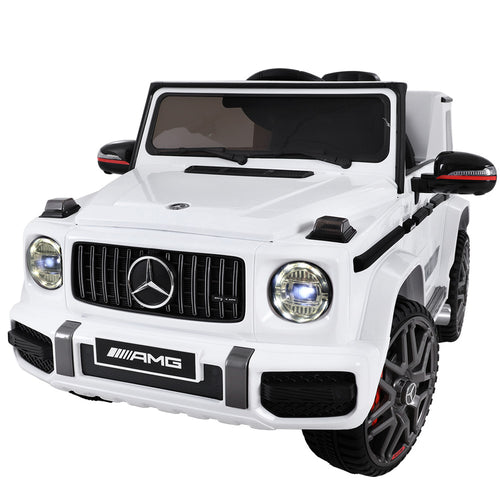 Mercedes-Benz Kids Ride On Car Electric AMG G63 Licensed Remote Cars 12V White - Elea Toys