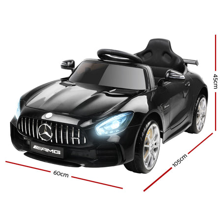 Kids Ride On Car MercedesBenz AMG GT R Electric 12V Black - Elea Toys