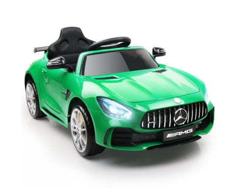 *Limited Stock* Kids Ride On Car MercedesBenz AMG GT R Electric 12V Green - Elea Toys