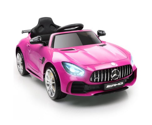 Kids Ride On Car MercedesBenz AMG GT R Electric 12V Pink - Elea Toys