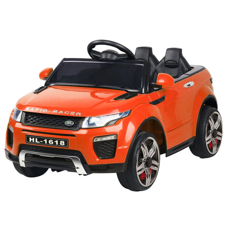 Rigo Kids Ride On Car Range Rover Inspired Electric 12V Toys Orange - Elea Toys