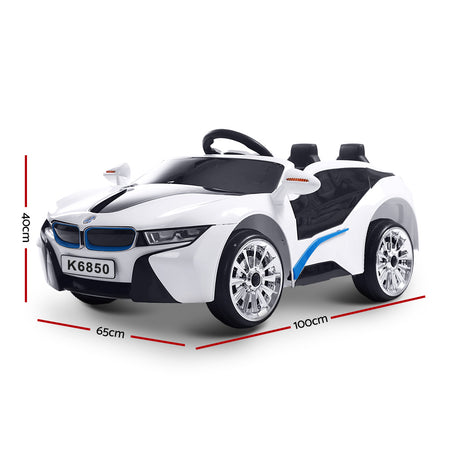 Rigo Kids Ride On Car  - White - Elea Toys