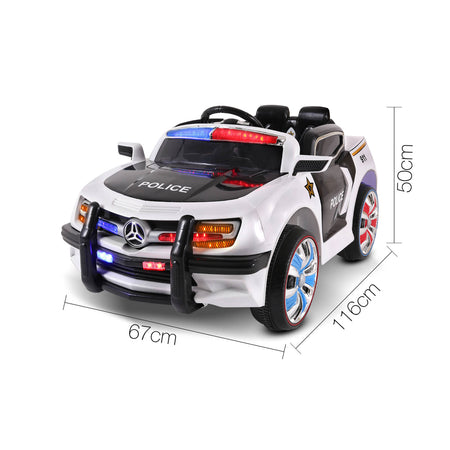Rigo Kids Ride On Car - Black & White - Elea Toys