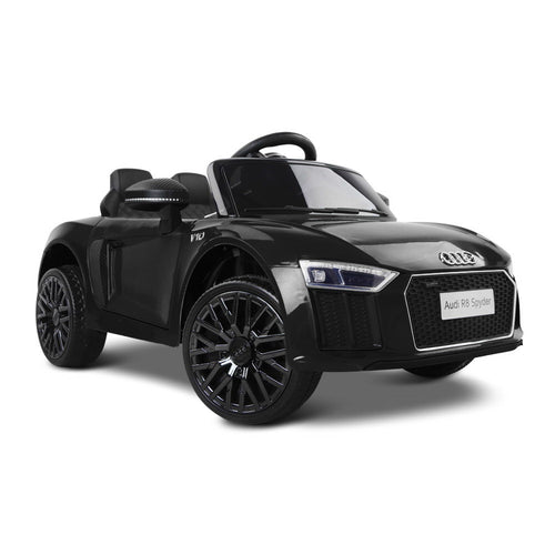Kids Ride On Car Audi R8 Licensed Electric 12V Black - Elea Toys