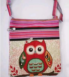 Girls - Women Owl Elephant Printed Handbag Shoulder Bags Tote Purse Messenger Cross Body Bag