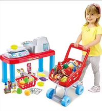 LUXURY Kids Children Pretend Play Supermarket Set with 17 accessories - Elea Toys
