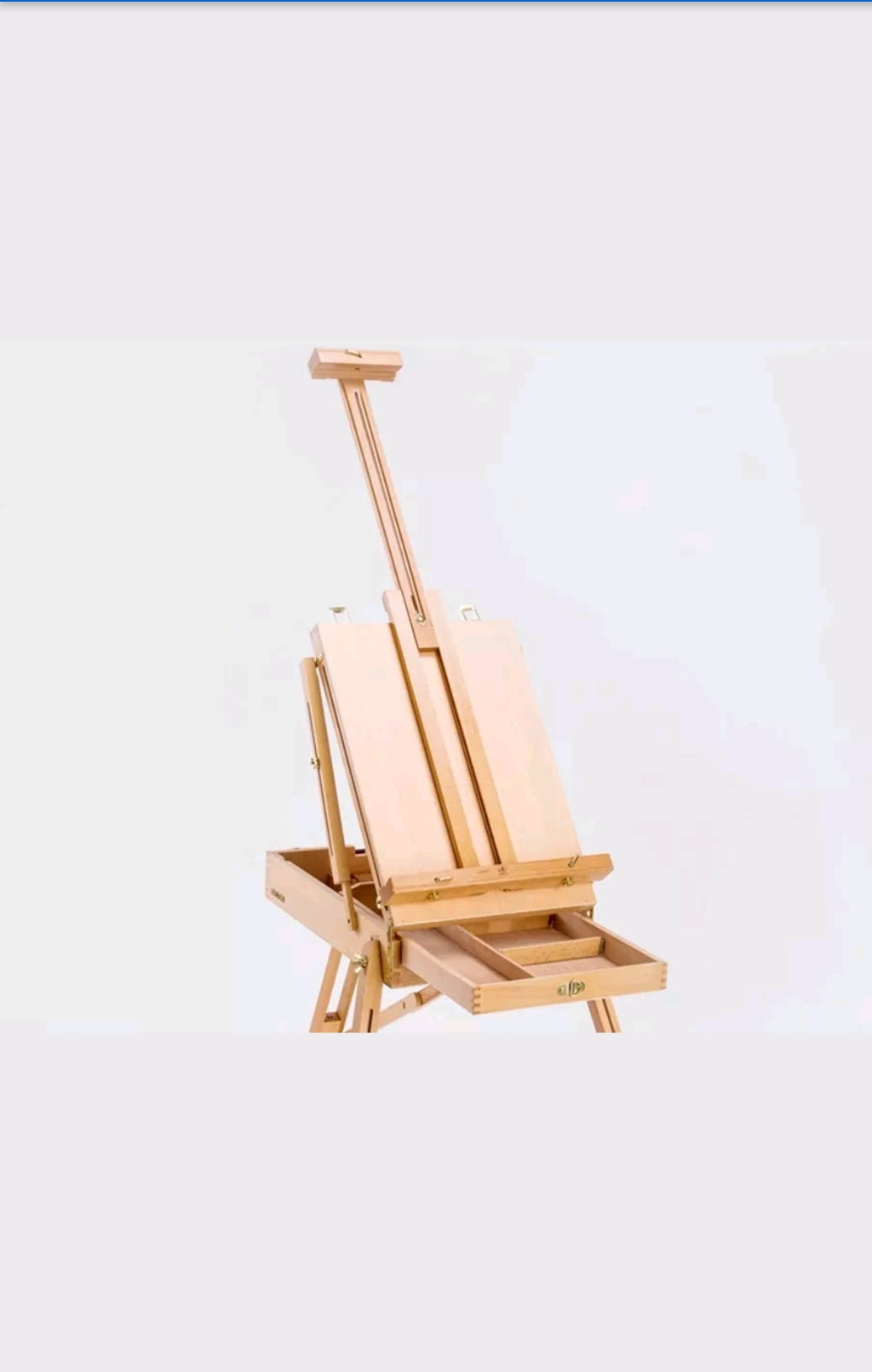 Wooden Portable Folding Art Easel & Legs & Drawer