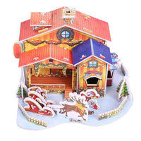 🎅NEW ARRIVAL🎅🔖Christmas House Foam Paper Board DIY 3D Puzzle Tool Kit Kids Gift Xmas Decor