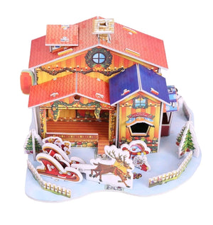 🎅🔖Christmas House Foam Paper Board DIY 3D Puzzle Tool Kit Kids Gift Xmas Decor