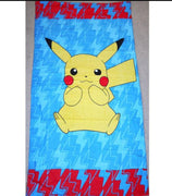 Pokemon Pikatsu 100% Cotton Kids Bath Beach Towel