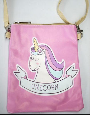 PU Leather Unicorn Crossbody Bag